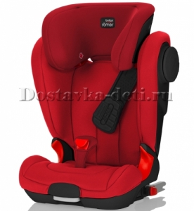 Детское автокресло Kidfix II XP SICT Black Series Flame Red Trendline 15-36 кг.
